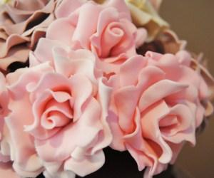 rosas , tarta , cake , wedding , bodas , novios , mericakes , fondant , barcelona , bouquet .